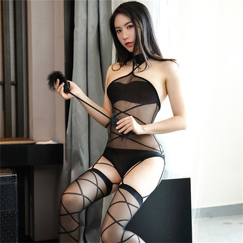 Teddy Transparent Mesh Bodysuits 3