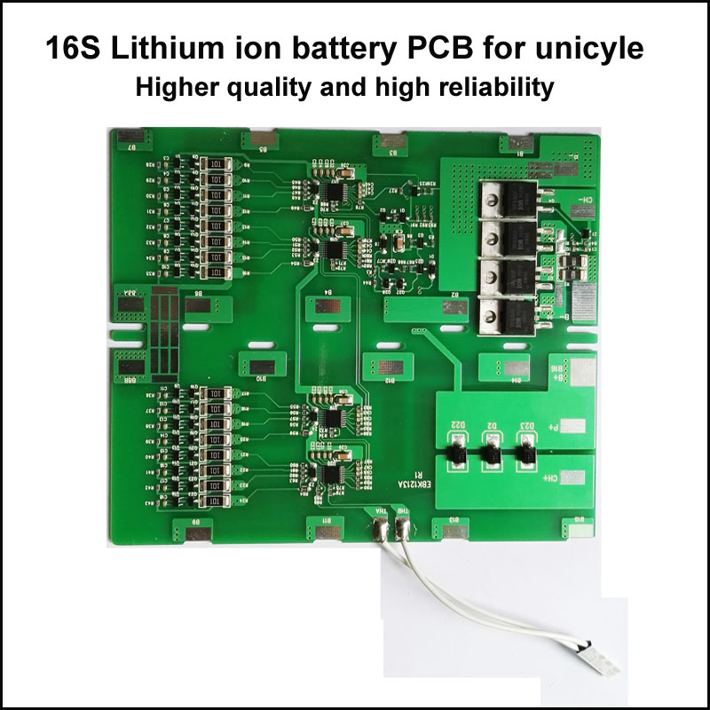 16S  60V or 67.2 V unicycle lithium ion battery BMS 60V li-ion battery protection circuit board for solo-wheel battery PCB арбалет архонт