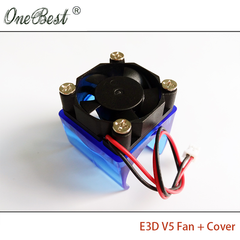 E3D V5 fan cover with 3010 fan 3d printer accessories DIY E3DV5 injection molding radiator cooling fan cover 30*30*10mm flsun 3d printer big pulley kossel 3d printer with one roll filament sd card fast shipping
