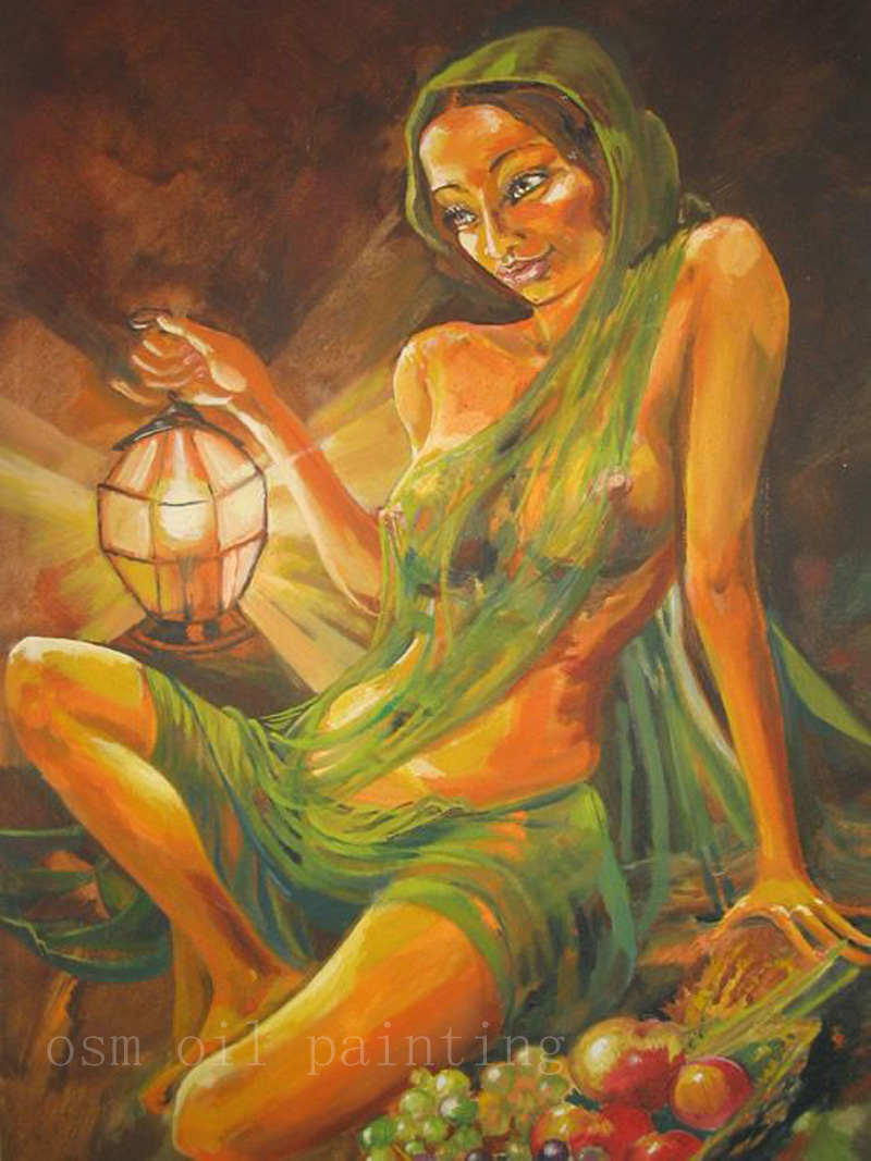 Top Skill Handmade Indian Portrait Oil Painting On Canvas -3050