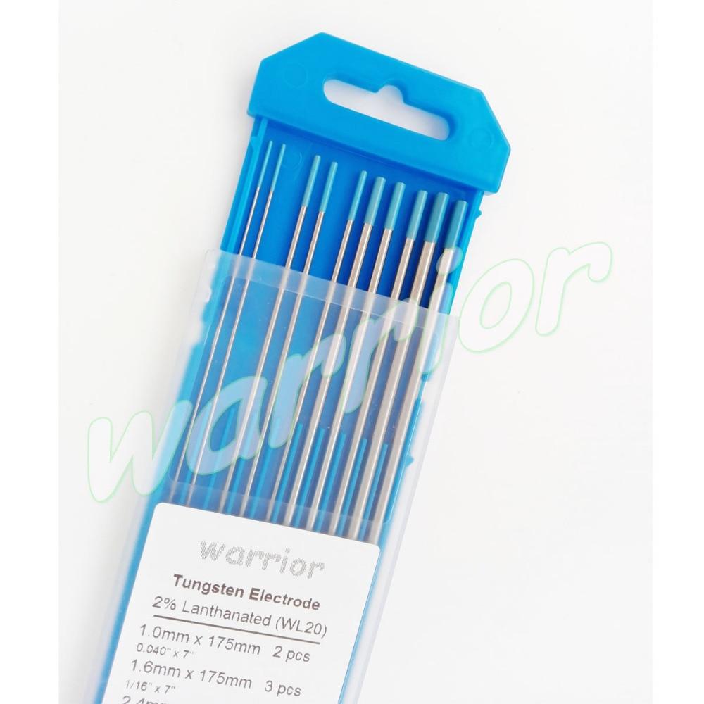 "WL20,10-pk  3//32/""x7/"" TIG Blue Tungsten Electrode and Filler Rod  2/% Lanthanated"