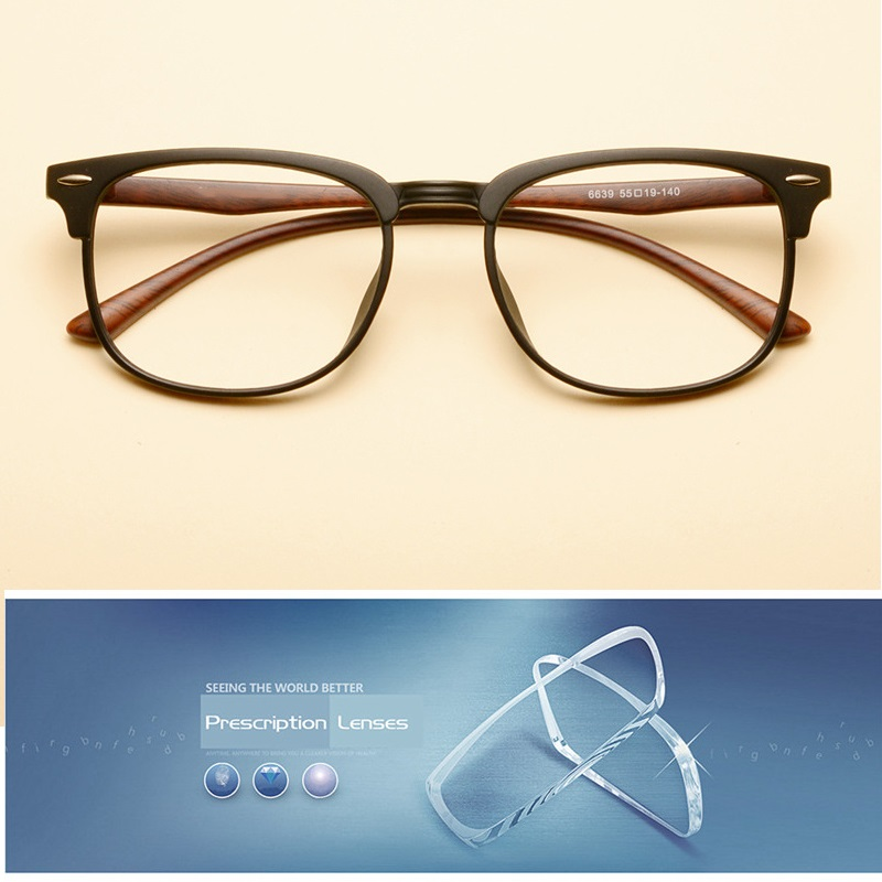 Vazrobe Half Rim TR90 Glasses Men Women Minus Diopter Spectacles Customize Optical Prescription Resin Lens 1.56 1.61 1.67 Index