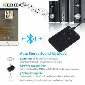 Image 5 - Kebidu 3.5mm Audio sans fil Bluetooth émetteur récepteur adaptateur 2 en 1 stéréo Audio musique adaptateur câble pour TV voiture haut parleur