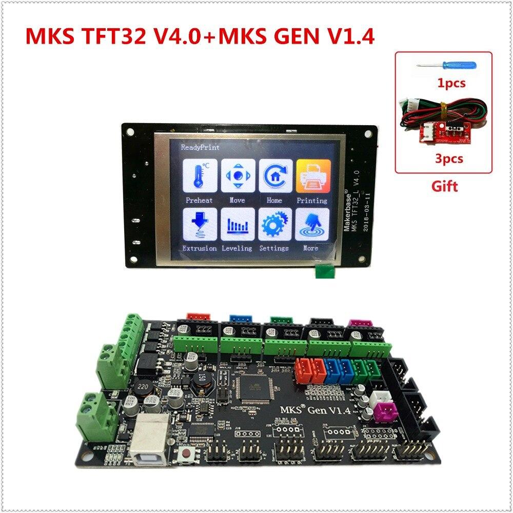 MKS GEN controller with MKS TFT32 v4 0 colorful touch screen 3d printer DIY starter kit