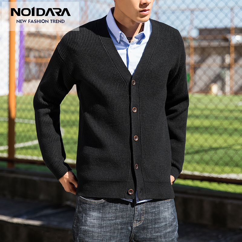 No 1 Dara Nouvelle Marque Chandail Hommes Col V Solid Slim Fit Tricot Mens Chandails Cardigan Mâle 2018 Automne Mode Casual tops Hots