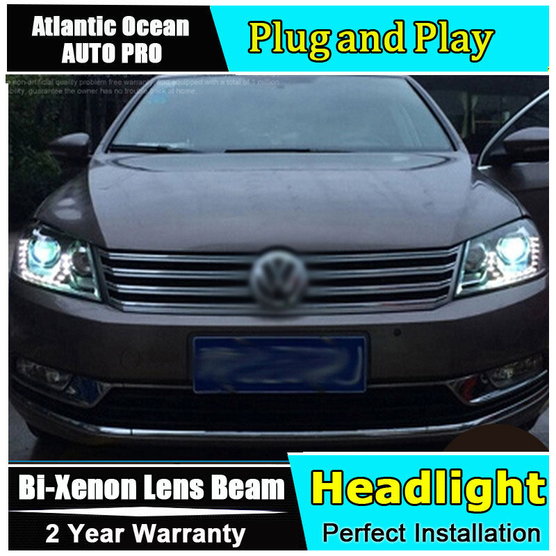 Car Styling Head Lamp for VW Passat B7 led headlights Volks Wagen Passat B7 Headlight LED drl HID KIT Bi-Xenon Lens low beam набор автомобильных экранов trokot для vw passat b7 2010 2014 на передние двери tr0408 01