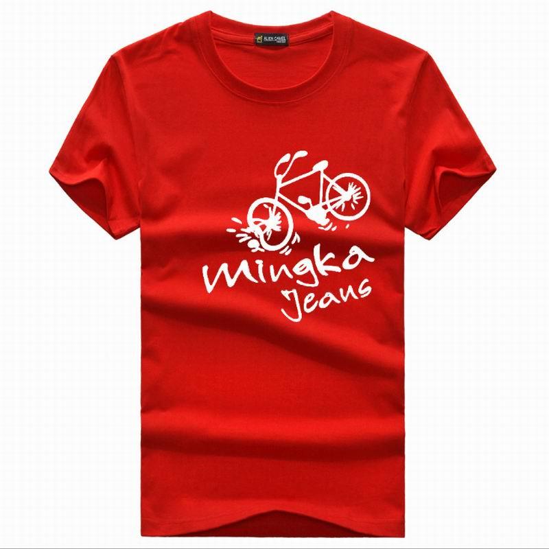 cotton t shirt men Print Bicycle man's T-shirt 3d 2017 korea brand clothing t shirt homme 4
