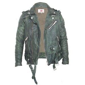 Image 3 - Maplesteed vintage curtido jaqueta de couro preto vermelho verde fino casaco de couro inverno jaqueta motociclo moto motociclista roupas 145