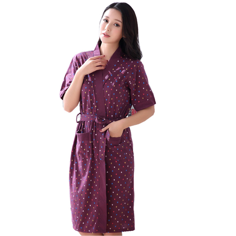 Hot Sale Summer Lady Pajamas Bath Robe Sleepwear Womens -4708