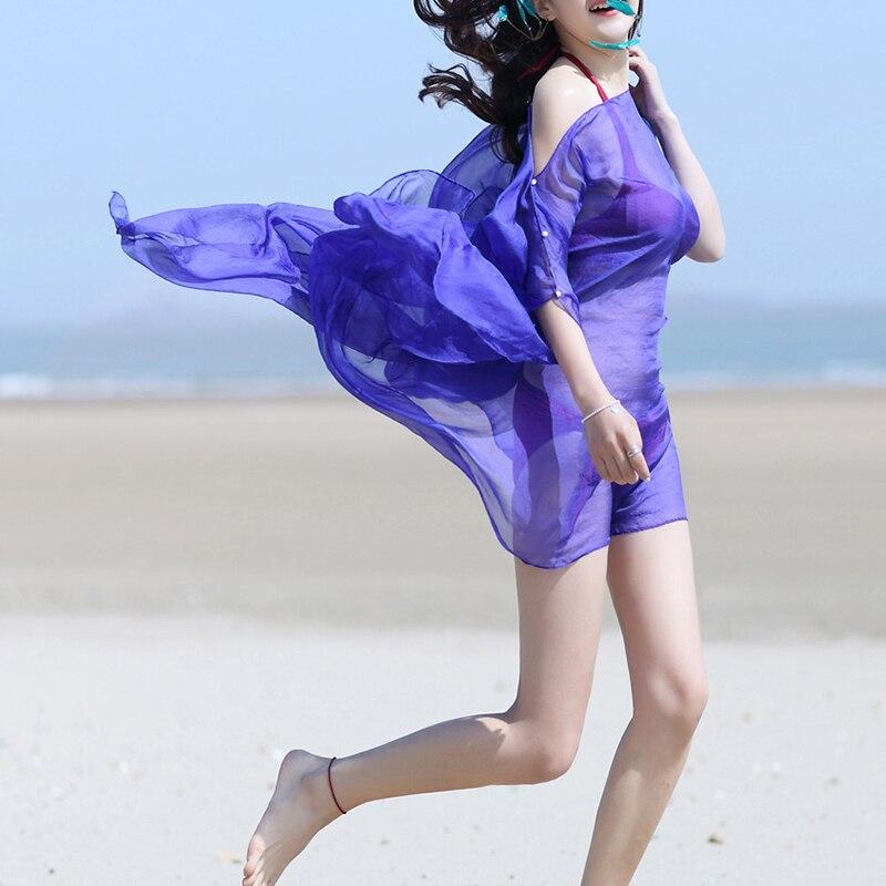 Maternity Beach Solid Cover-Ups Swimwear Shawl Pregnancy Beach Coat Maternity Chiffon Sun Protection Overalls