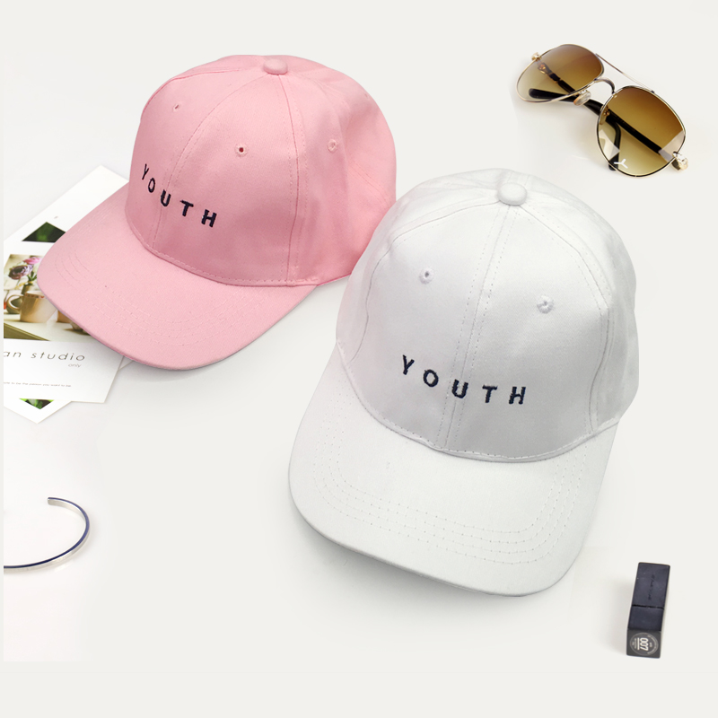 Summer   Baseball     Cap   New Cotton Mens Hat Youth Letter Print Embroidery Cotton Unisex Women Men Hats Snapback Hip Hop Hat