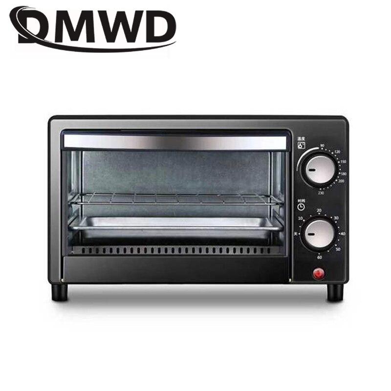 DMWD four à Convection électrique boulangerie grille-pain Machine à pain 12L Mini gâteau Pizza petit-déjeuner Machine de cuisson minuterie rôtissoire Grill EU US