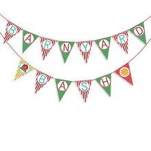 Farm Barn Yard Birthday Party Banner Decorations Kids Supplies Flags
