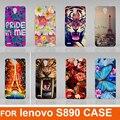 14 estilos pintado transparente lado dos desenhos animados caso capa para Lenovo S890 grátis para caso Lenovo S890
