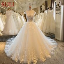 SL 46 Sexy 2017 robe de mariage Vintage Lace Wedding Dress Pearl