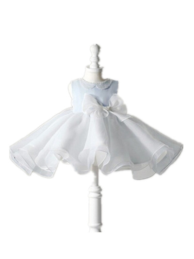 BABY WOW Baby Clothes Light Blue Baby Girls Christmas Dresses Christening Gowns Princess Dress First Communion