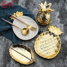Nordic Gold Home Decor Ceramic Pineapple Vanity Tray Trinket