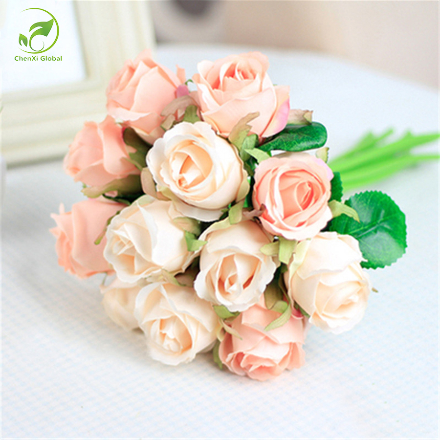 Aliexpress Buy 12pcslots Artificial Rose Flowers Wedding