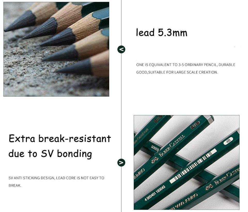 Faber Castell 9000 Lápis Grafite Jumbo Pack
