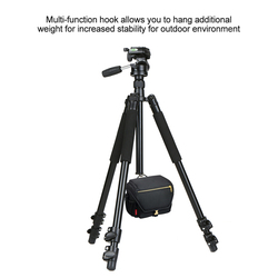 Andoer DSLR Aluminum Alloy Camera Tripod Monopod Max.Load 15kg with 360 Panorama Ball Head Quick Release Plate for Nikon/Sony
