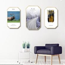 Modern simplicity INS Home decoration customize Hotel restaurant mural Creative home octagonal 3D Sen Department painting