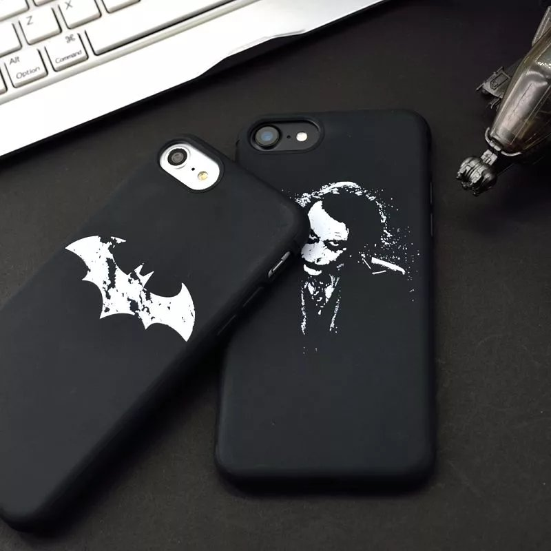 Batman Dark Knight Joker Printed Soft TPU Mobile Phone Bags Cases For Iphone 7 7 Plus 6 6S Plus Back Shell Cover Case