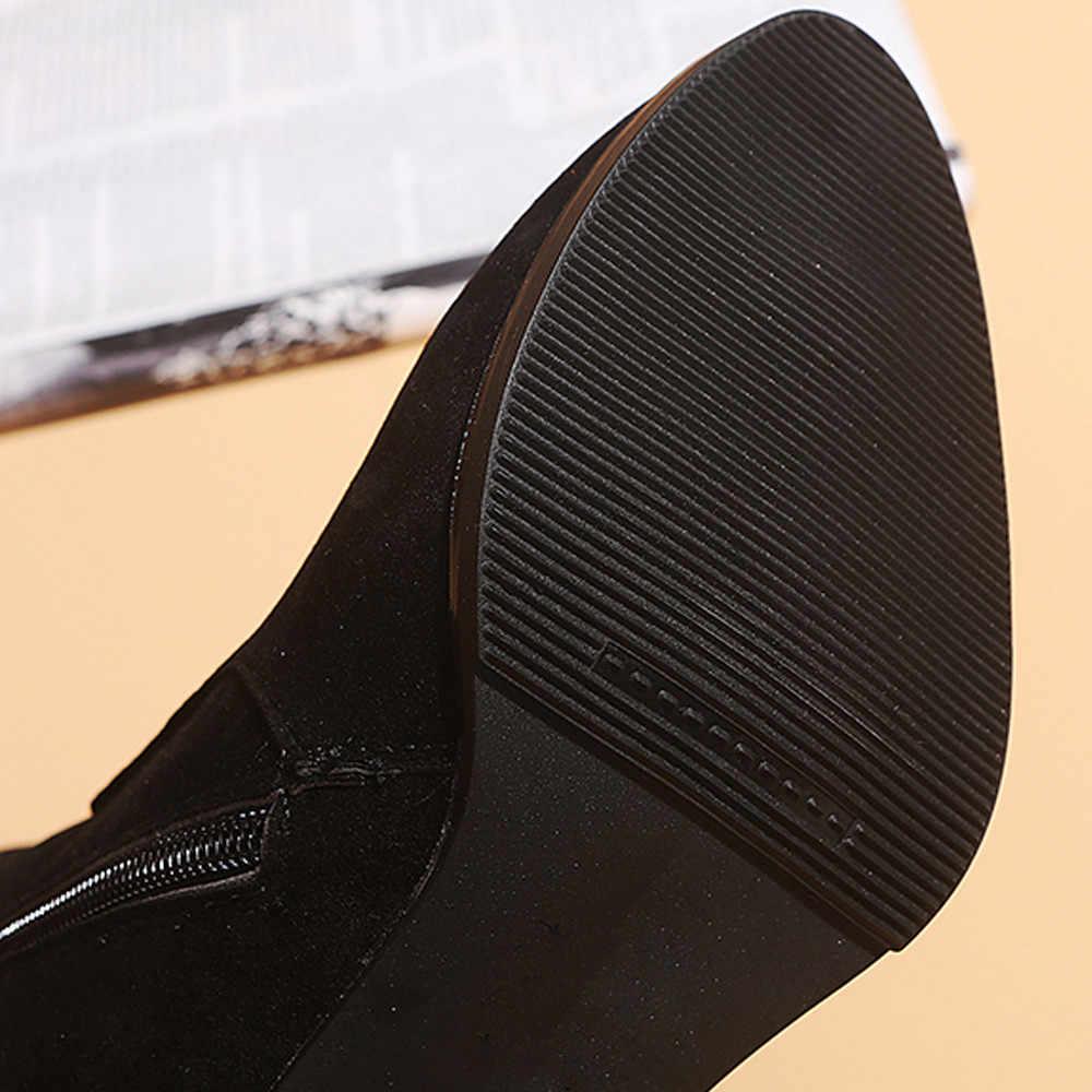 YOUYEDIAN Phụ Nữ Mắt Cá Chân Booties Ngắn Trung Ống Da Martin Khởi Động Giày Dây Kéo Phụ Nữ Khởi Động Mắt Cá Chân Ngắn Booties # a35