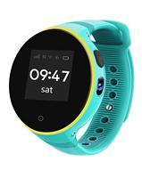 GPS Kids Smart Watch Tracker IP54 Waterproof Round Screen Android Wristwatch Zero distance Positioning Boy Girl Child Blue Pink