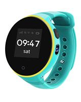 Gps дети Смарт часы трекер IP54 Водонепроницаемый круглый Экран Android наручные нулевой расстояние позиционирования мальчик девочка ребенок син