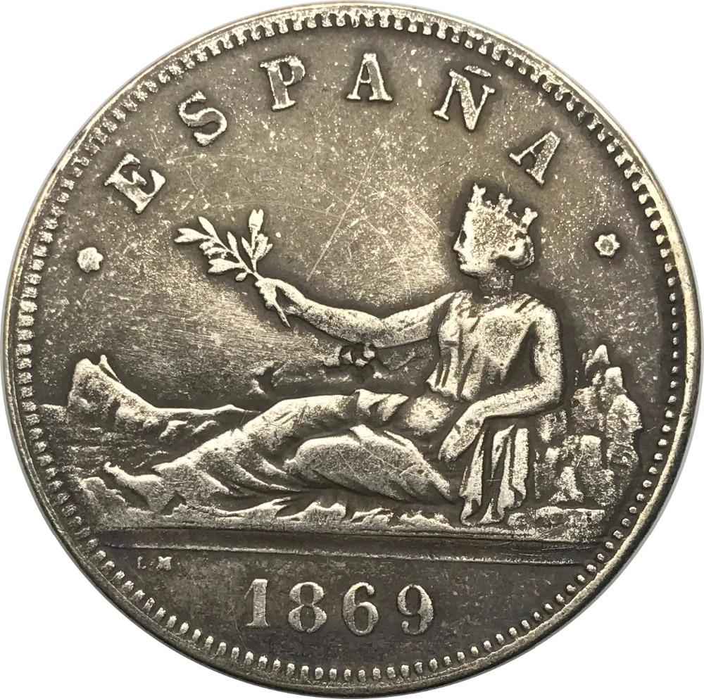 Ornamente Haus & Garten 1889 Spanien Gold Münze Alfonso Xiii König Constl De 20 Peseten Porlag Von Gott Überzogene Messing Kopie Münzen