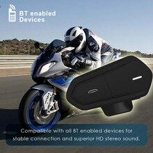 Nero Impermeabile Del Motociclo Del Casco Citofoni Qtb35 per Citofono del Casco Bluetooth Citofono Motore Interphone Cuffie Radio FM