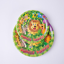 6pcs 7 9inch Cartoon Animal Jungle animals Paper Plate Party Decoration Disposable Tableware Set Supplies Wild Zoo Globos