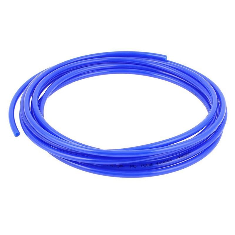 6mm X 4mm Pneumatic Air Compressor Pipe PU Hose Tube Pipe 4.5m Blue