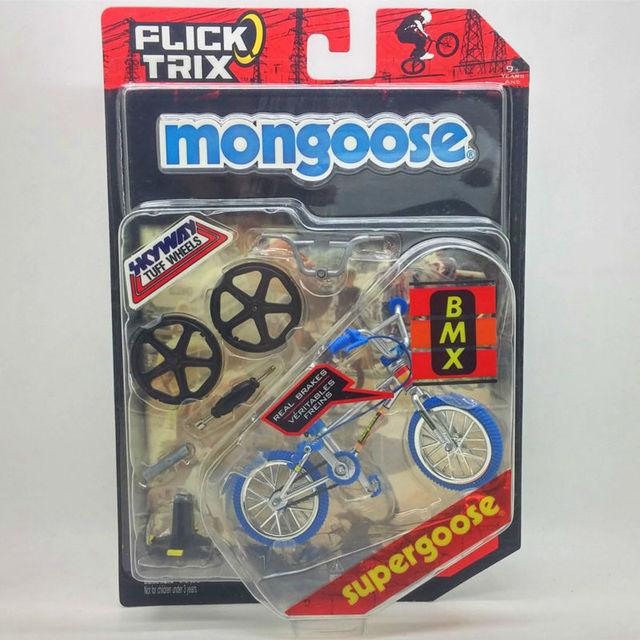 """Flick Trix Bmx Mini Finger Bike """"Supergoose"""" modelo de aleación de barras de soporte de exhibición de bicicletas con ruedas truco bonus pegatinas y herramientas"""