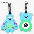 Monsters University Sullivan & Mr.Q  creative silicone luggage tag pendants hang tags checked brand tourist products KT2704
