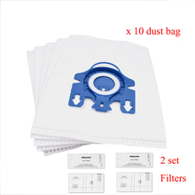 12Pcs Dust Bags Filters Replacements for Miele 3D GN COMPLETE C2 C3 S2 S5 S8 S5210 S5211 S8310 Vacuum Cleaner Bag