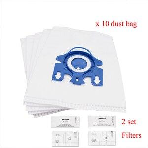 Image 1 - 12Pcs Staub Taschen Filter Ersatz für Miele 3D GN KOMPLETTE C2 C3 S2 S5 S8 S5210 S5211 S8310 Vakuum reiniger Tasche