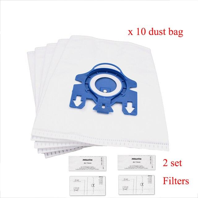 12Pcs Staub Taschen Filter Ersatz für Miele 3D GN KOMPLETTE C2 C3 S2 S5 S8 S5210 S5211 S8310 Vakuum reiniger Tasche