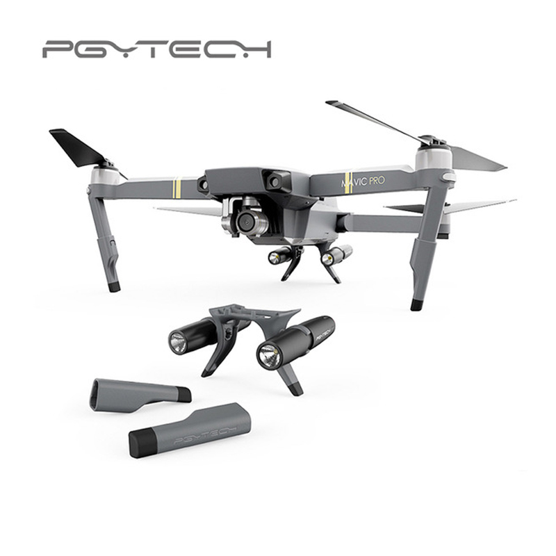 981941568bc PGYTECH Landing Gear Extended Leg Support Protector Extension with LED  Headlamp set For Drone DJI Mavic Pro Accessories