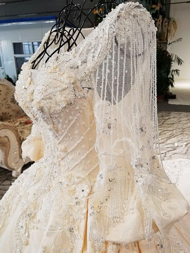 Us 948 0 Backlakegirls Vintage Ball Gowns Wedding Dress Flowers Applique Beaded Gold Long Train Pakistani Bridal Dresses 2018 Hot Sale In Wedding
