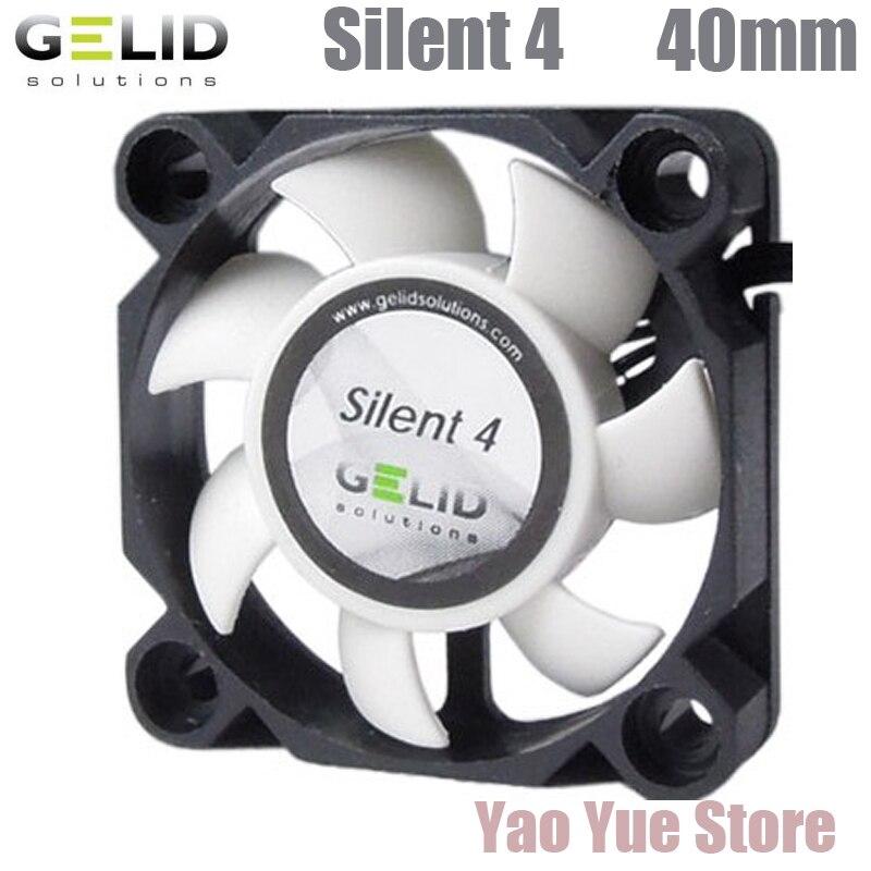 GELID SILENT 4 40mm PC Computer Case Fan CPU Cooler Cooling Heat Sink Radiator 4cm Fan computer cooler radiator with heatsink heatpipe cooling fan for hd6970 hd6950 grahics card vga cooler