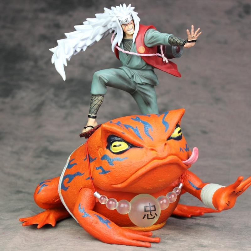 anime figure Naruto Shippuden Gama Sennin Jiraiya Gama Bunta GK Statue Action Figure Toy Doll Brinquedos Figurals Model Gift