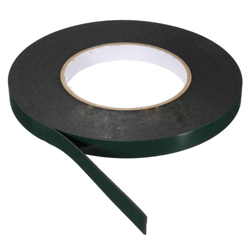 Nice 1 pc 10m Length Strong Adhesive Waterproof Double Sided Tape High quality 10mm width Foam Green Tape Trim Home Car 25mm x 1mm double sided self adhesive shockproof sponge foam tape 10m length