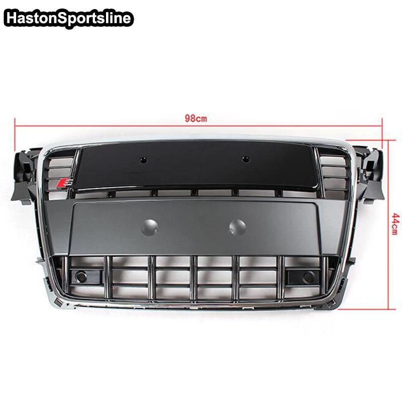 For Audi A4 RS4 S4 B8 S4 Style Grey front Bumper Grill Grille 2 Door 4 Door 2009 ~ 2012 2 38 2012