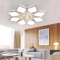 YooE современные светодиодные потолочные светильники для Гостиная Спальня поверхностного монтажа удаленного Управление Кристалл Блеск дом