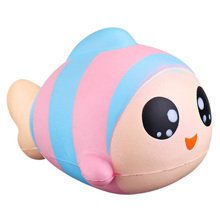 Cute Rainbow Fish Slow Rising Squeeze Decompression Toys Stress Reliever Toys Smooshy Mushy Toys