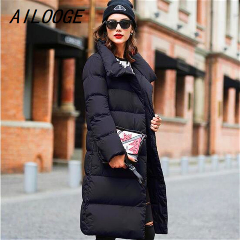 AILOOGE Winter Collection Women   Down     Coat   Jacket Warm High Quality Woman   Down   Parka Female Thickening Big Plus Size Outerwear