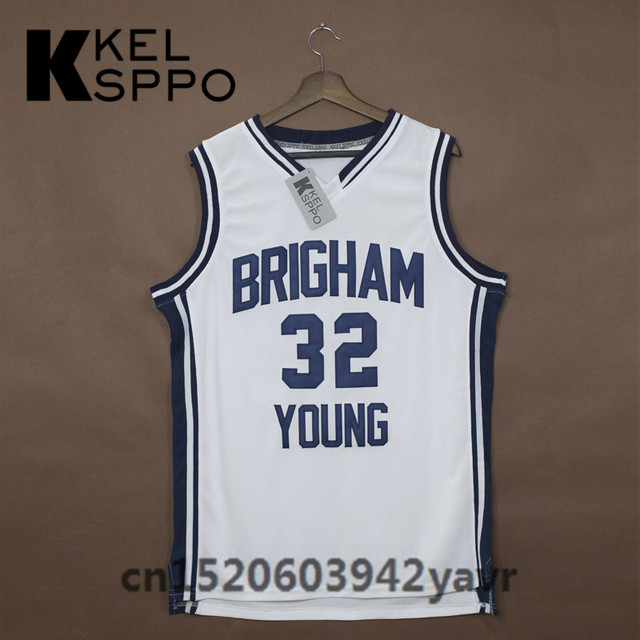 44b224a81 Custom Adult Throwback Basketball Jerseys  32 Jimmer Fredette Brigham Young  Embroidered Basketball Jersey Size XXS-6XL