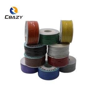 Image 4 - CBAZY 250 متر سلك كهربائي التفاف التفاف 10 ألوان ضفيرة واحدة النحاس AWG30 كابل موافق سلك وسلك ثنائي الفينيل متعدد الكلور