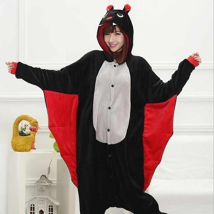 Теплый зимний костюм для взрослых с мультяшными животными Комбинезон кигуруми для мужчин Хэллоуин фланелевый женский 2019 Пижама FEEA156